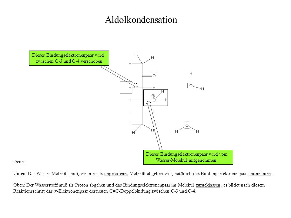 Aldolkondensation Dieses Bindungselektronenpaar wird