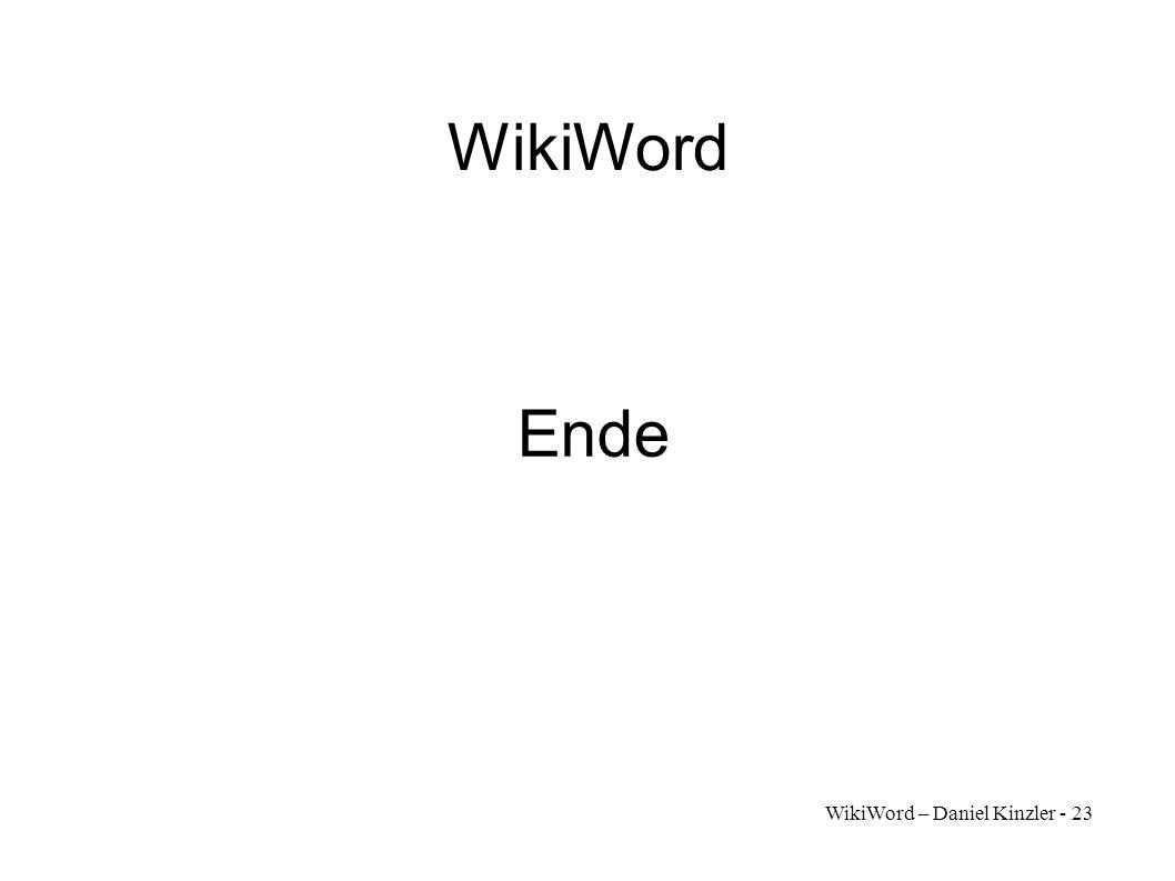 WikiWord Ende