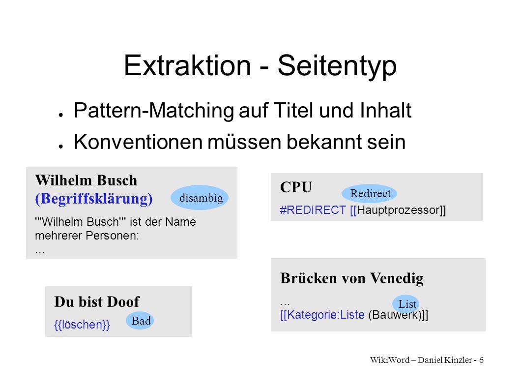 Extraktion - Seitentyp