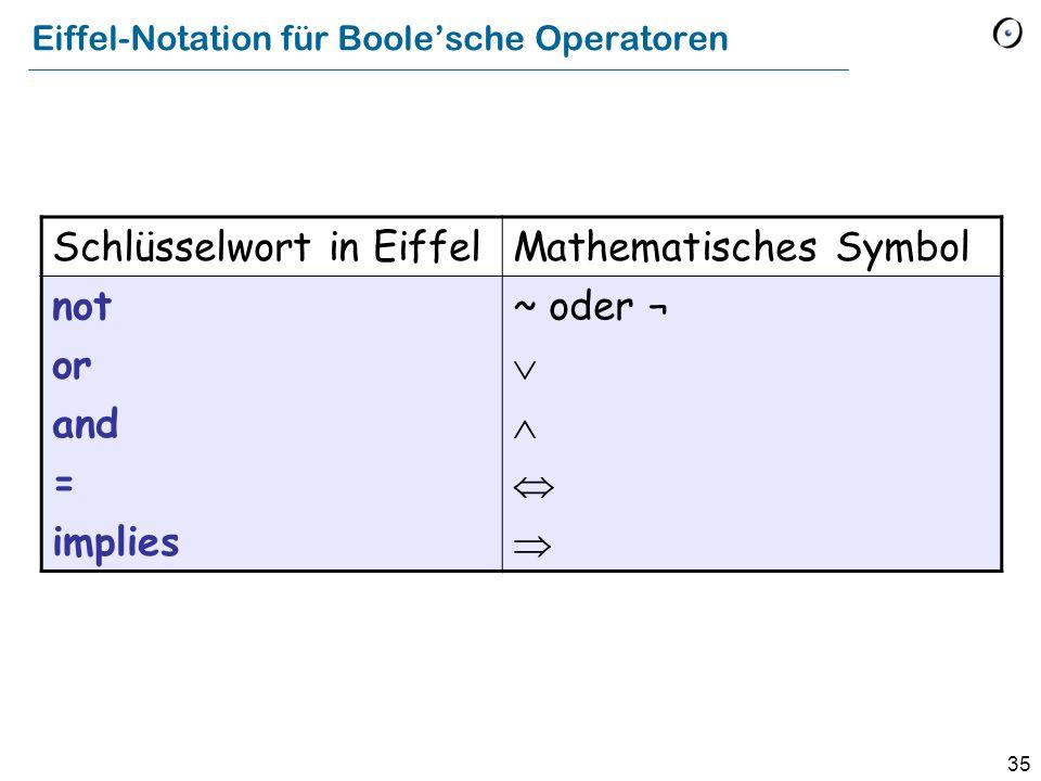 Eiffel-Notation für Boole'sche Operatoren