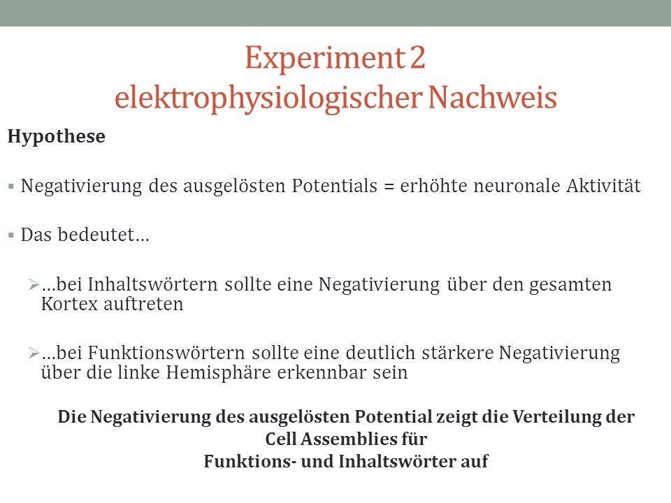 Experiment 2 elektrophysiologischer Nachweis