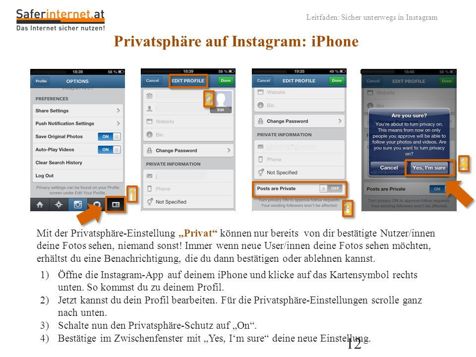 Privatsphäre auf Instagram: iPhone