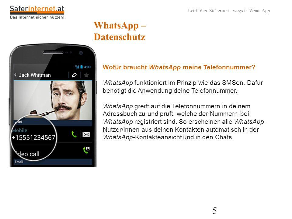 WhatsApp – Datenschutz