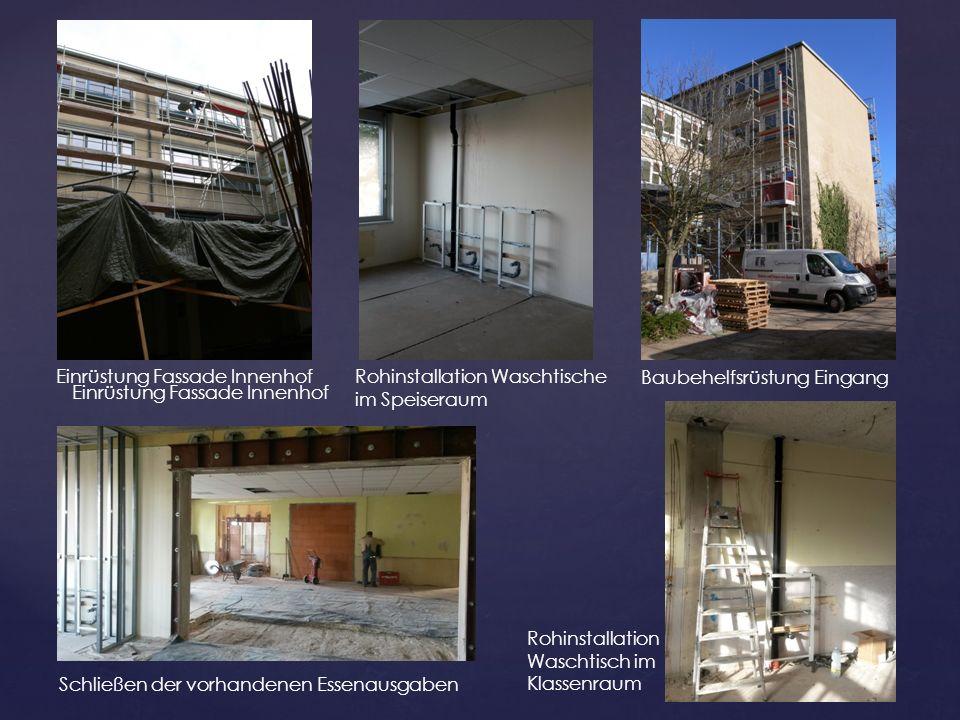 Einrüstung Fassade Innenhof