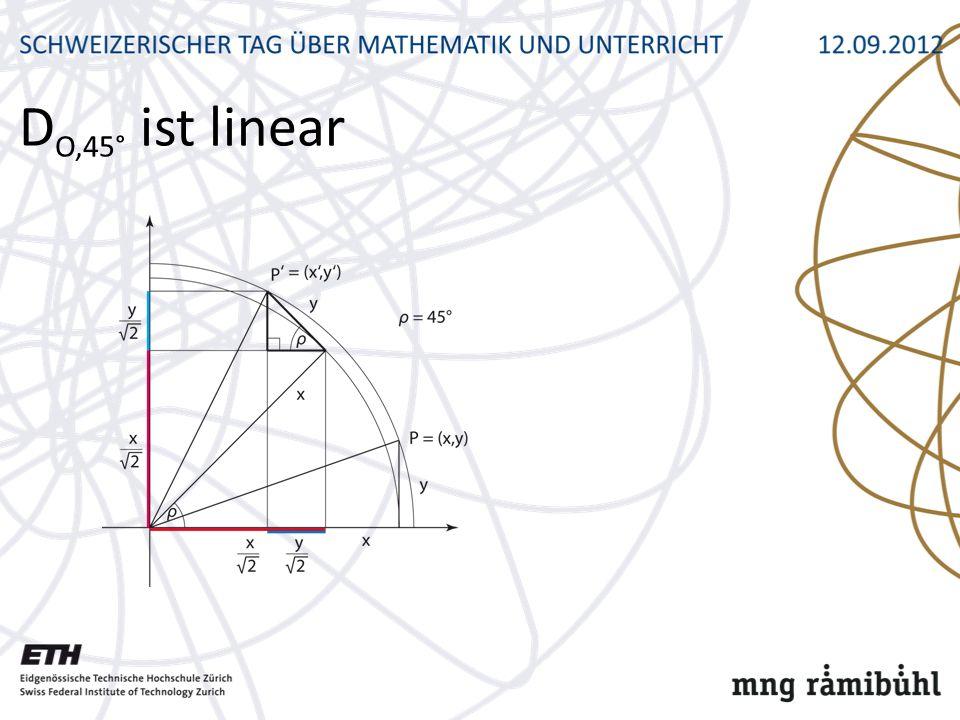 DO,45° ist linear