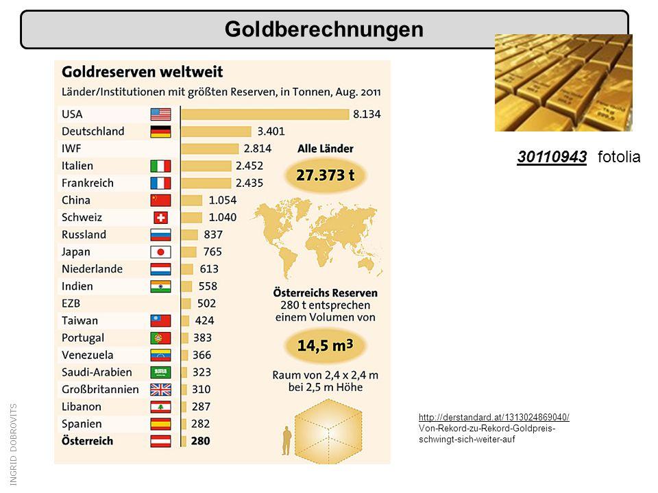 Goldberechnungen 30110943 fotolia http://derstandard.at/1313024869040/