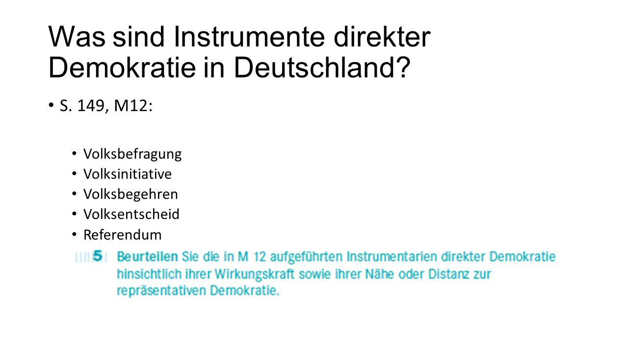 Was sind Instrumente direkter Demokratie in Deutschland