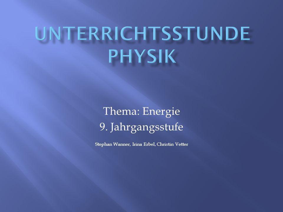 Unterrichtsstunde PHysik