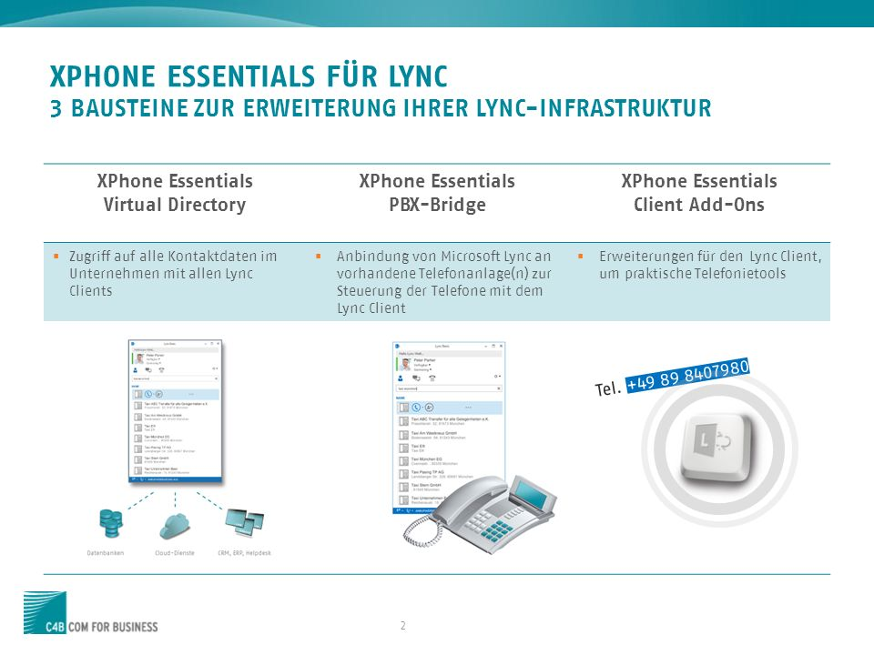 XPhone Essentials PBX-Bridge XPhone Essentials Client Add-Ons