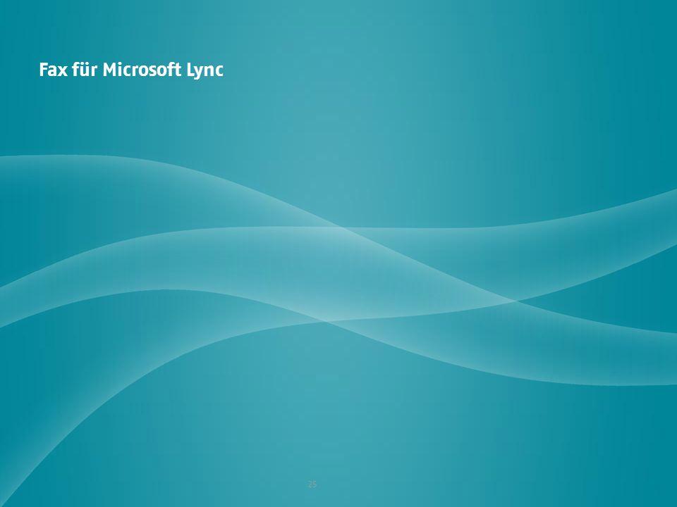 Fax für Microsoft Lync