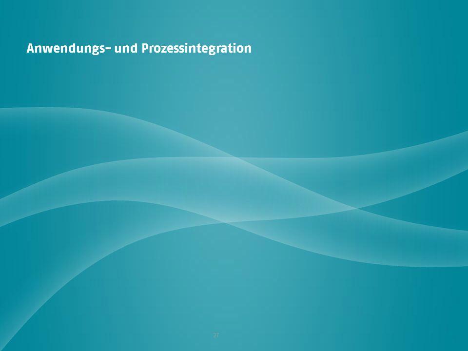 Anwendungs- und Prozessintegration