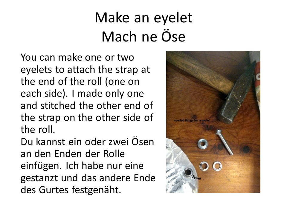 Make an eyelet Mach ne Öse
