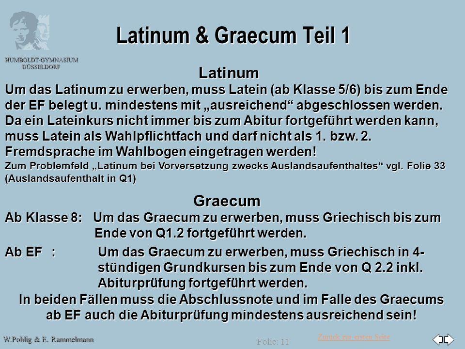 Latinum & Graecum Teil 1 Latinum Graecum