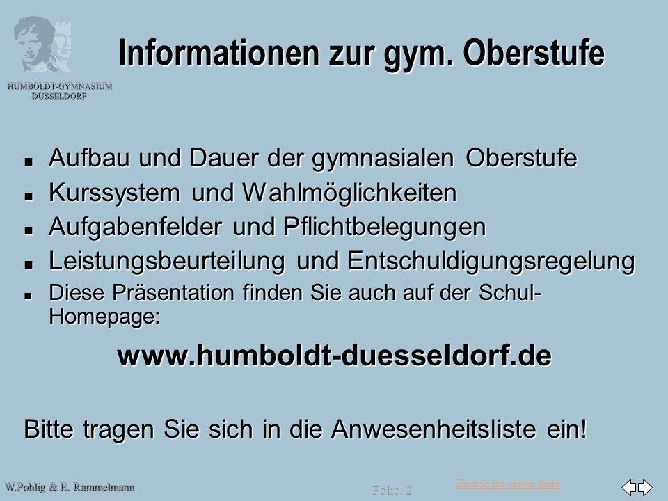 Informationen zur gym. Oberstufe