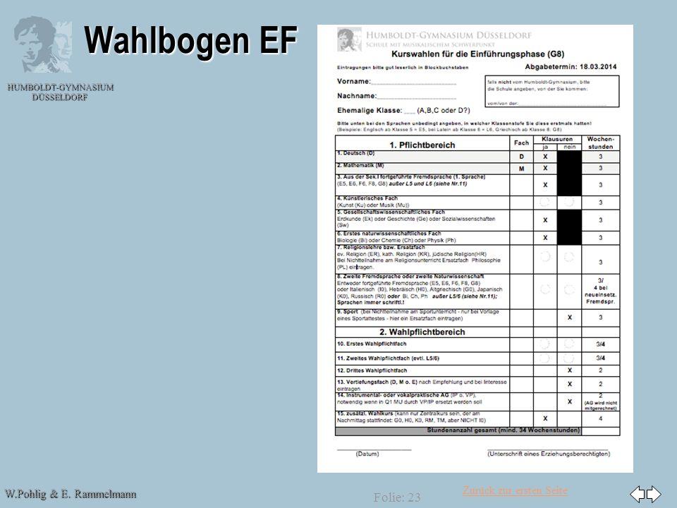 30.03.2017 Wahlbogen EF