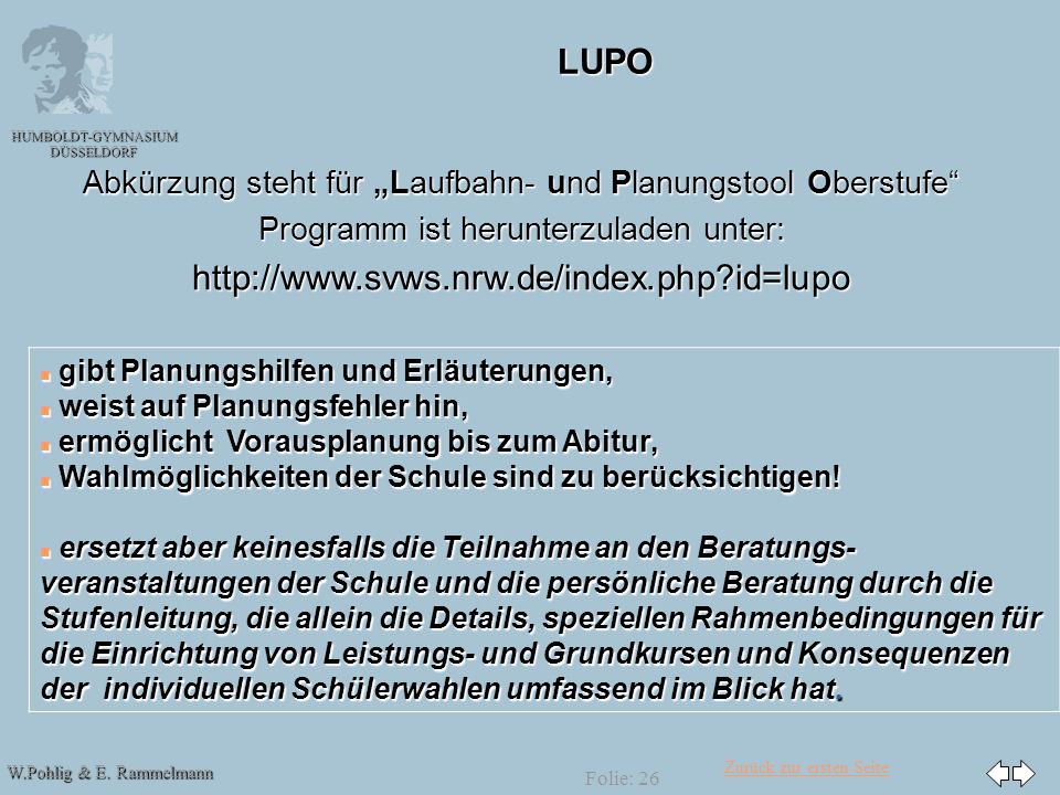 LUPO http://www.svws.nrw.de/index.php id=lupo