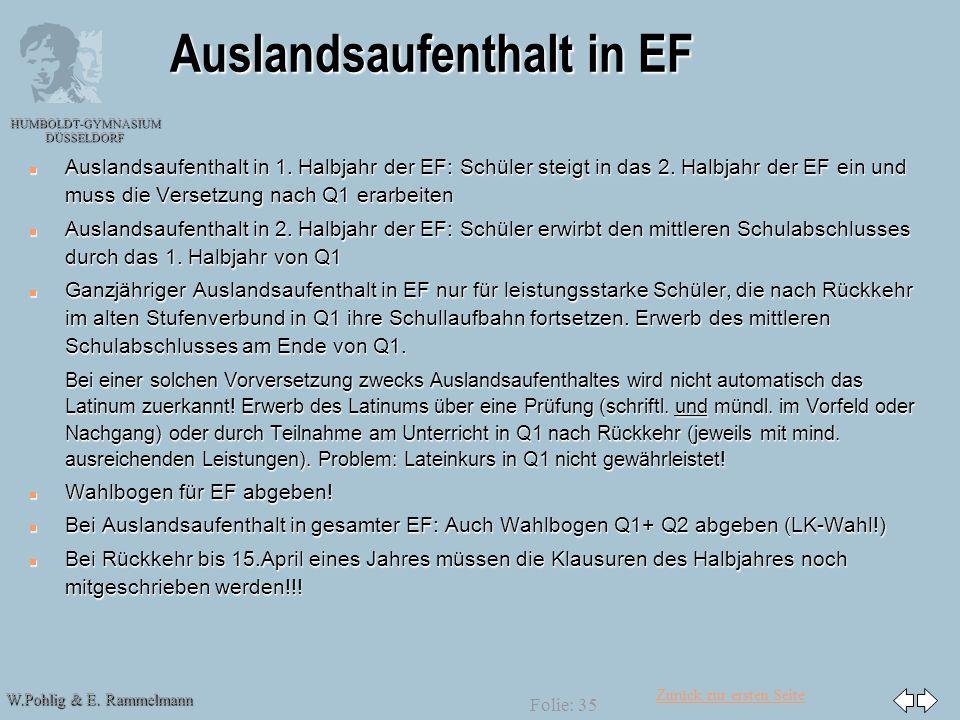 Auslandsaufenthalt in EF