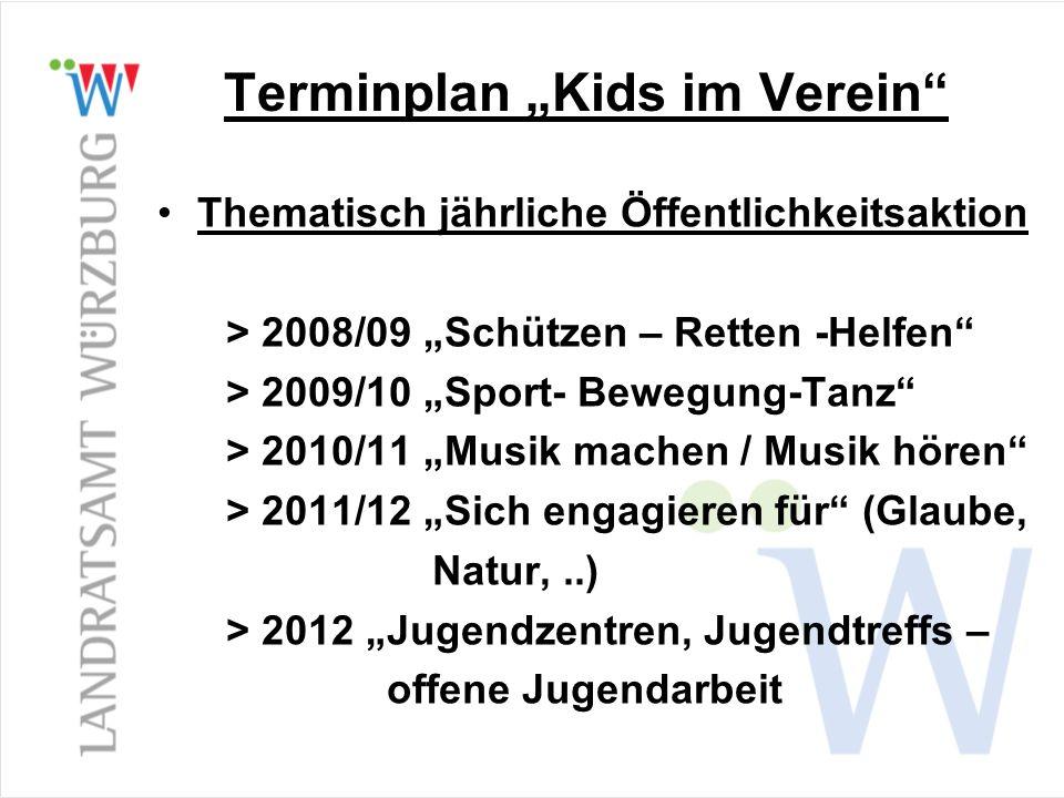 """Terminplan """"Kids im Verein"""