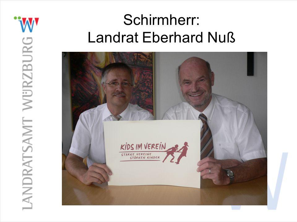Schirmherr: Landrat Eberhard Nuß
