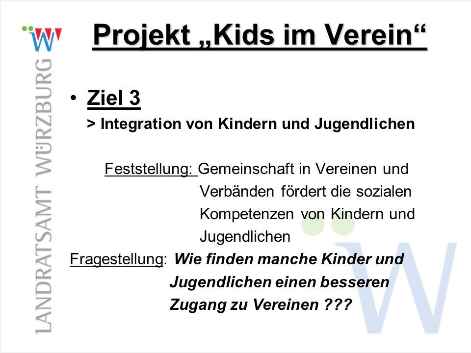 """Projekt """"Kids im Verein"""