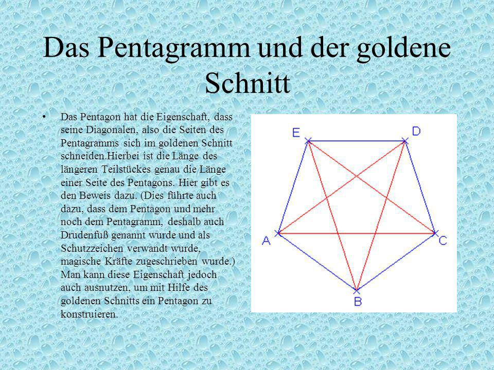 Das Pentagramm und der goldene Schnitt