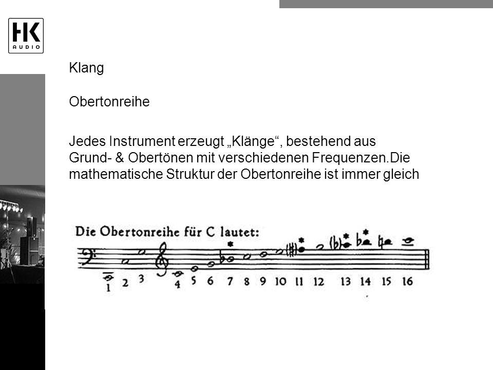 Klang Obertonreihe.
