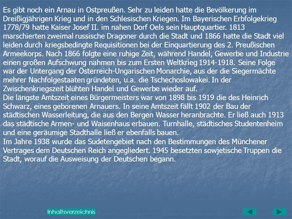 Es gibt noch ein Arnau in Ostpreußen
