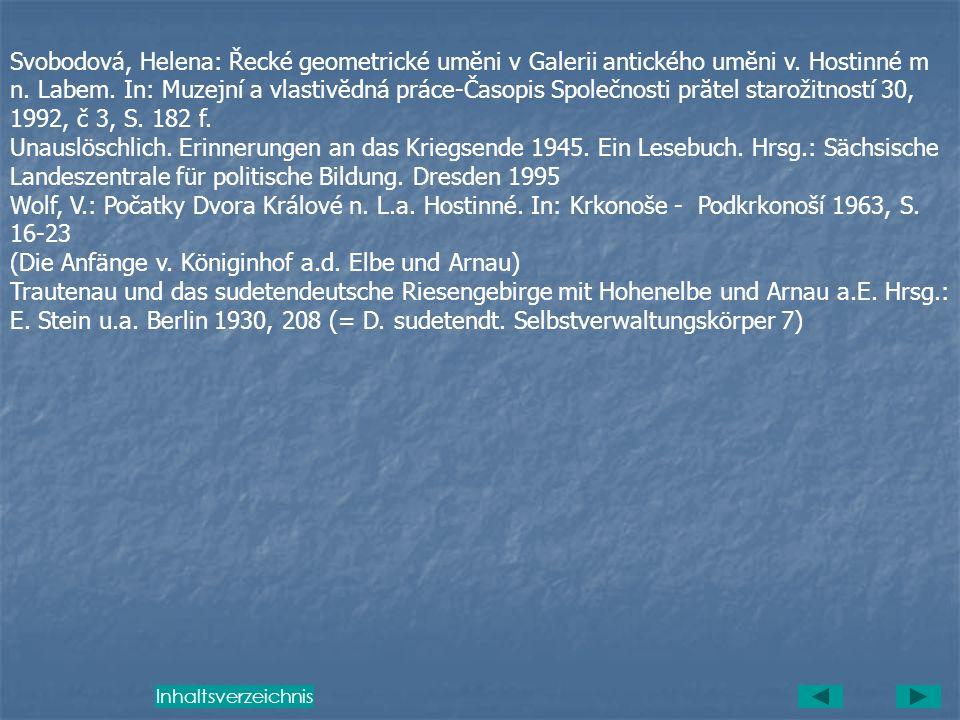 (Die Anfänge v. Königinhof a.d. Elbe und Arnau)