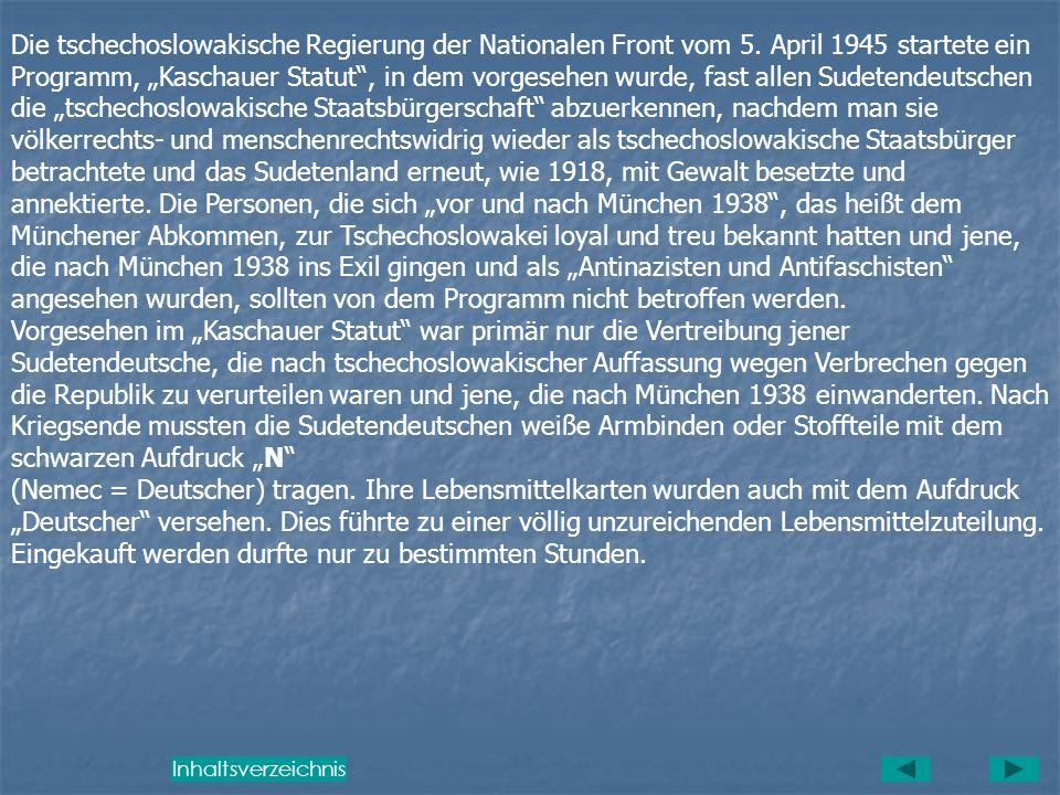 Die tschechoslowakische Regierung der Nationalen Front vom 5