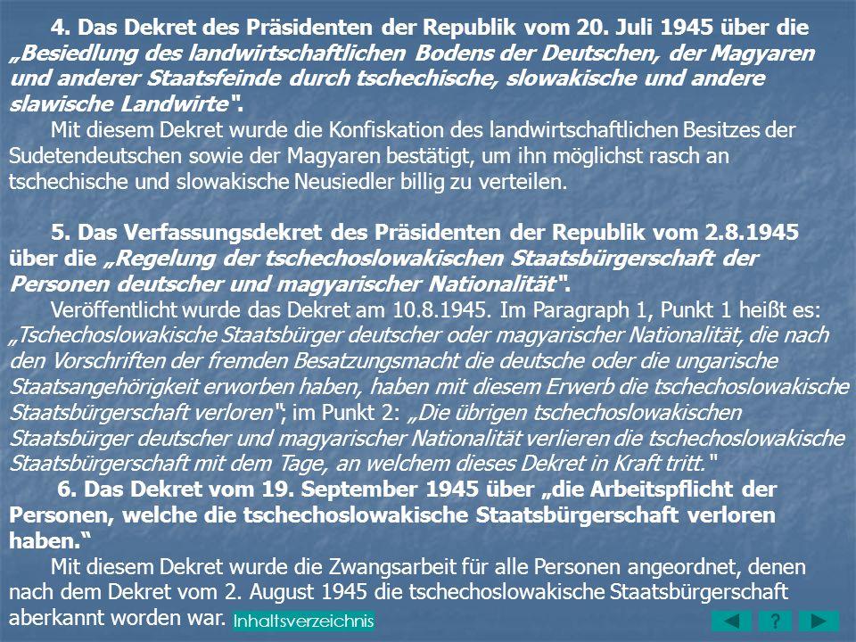 4. Das Dekret des Präsidenten der Republik vom 20