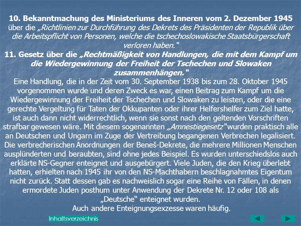 10. Bekanntmachung des Ministeriums des Inneren vom 2. Dezember 1945