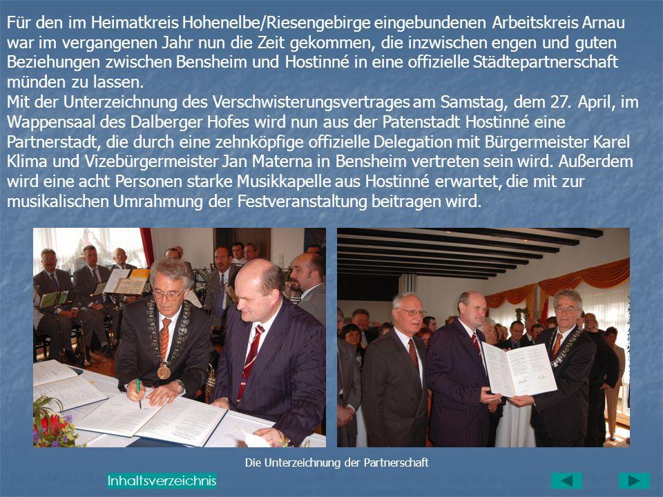Die Unterzeichnung der Partnerschaft