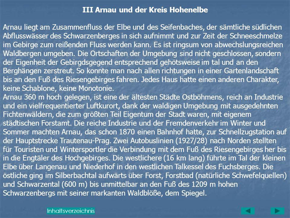III Arnau und der Kreis Hohenelbe