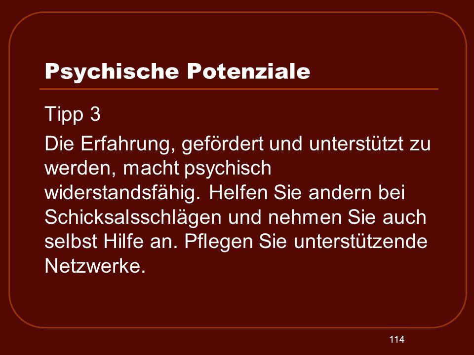 Psychische Potenziale
