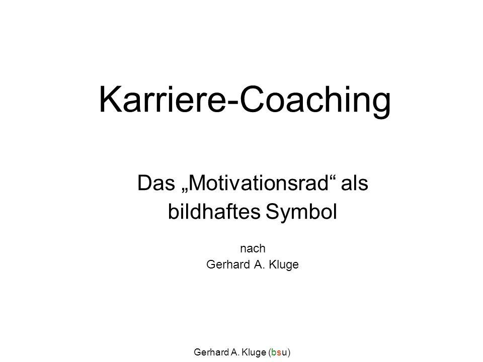 """Das """"Motivationsrad als bildhaftes Symbol nach Gerhard A. Kluge"""