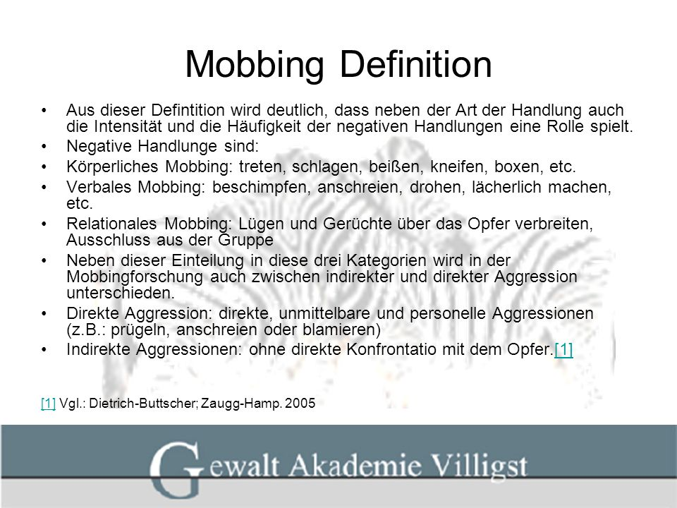 Mobbing Definition