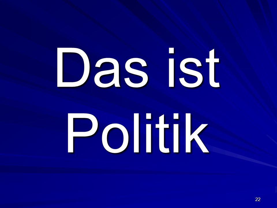Das ist Politik