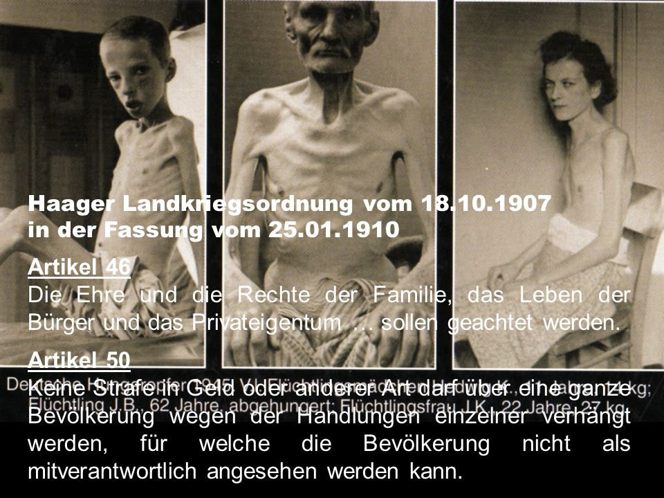 Haager Landkriegsordnung vom 18.10.1907
