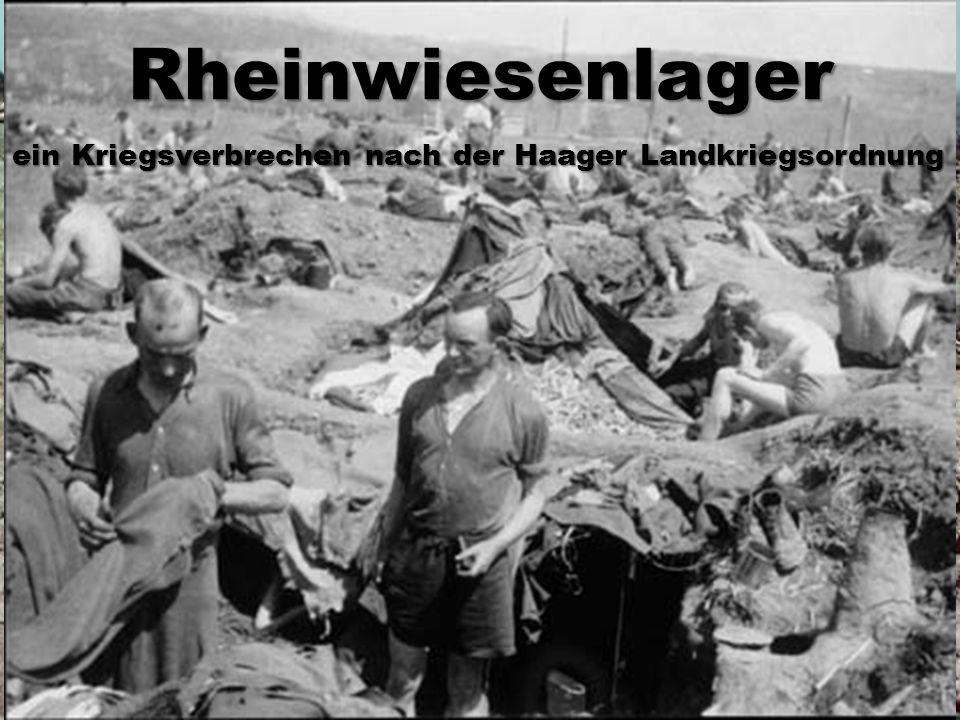 ein Kriegsverbrechen nach der Haager Landkriegsordnung