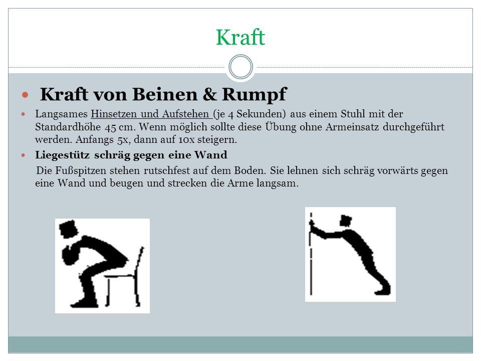 Kraft Kraft von Beinen & Rumpf