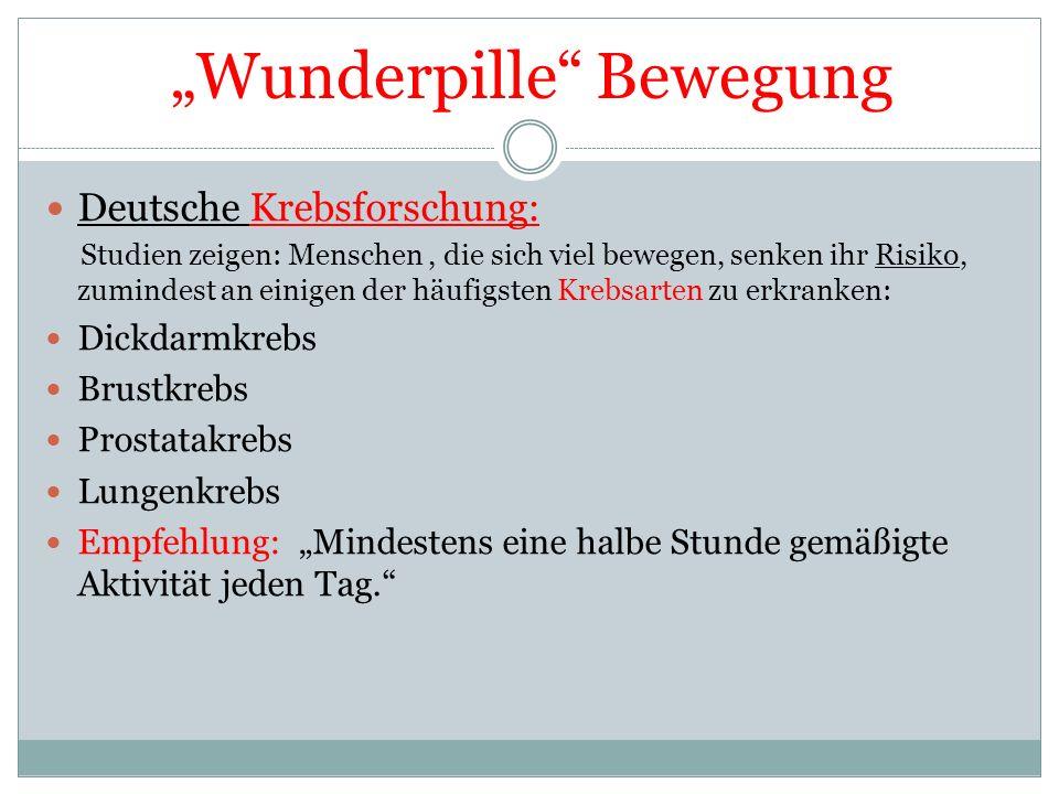 """Wunderpille Bewegung"