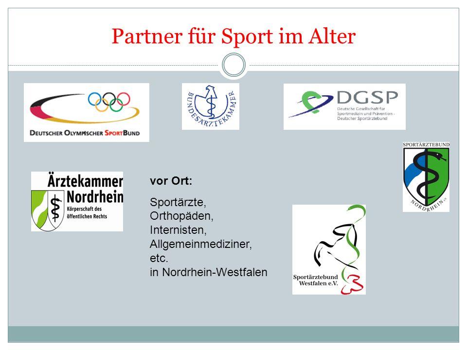Partner für Sport im Alter