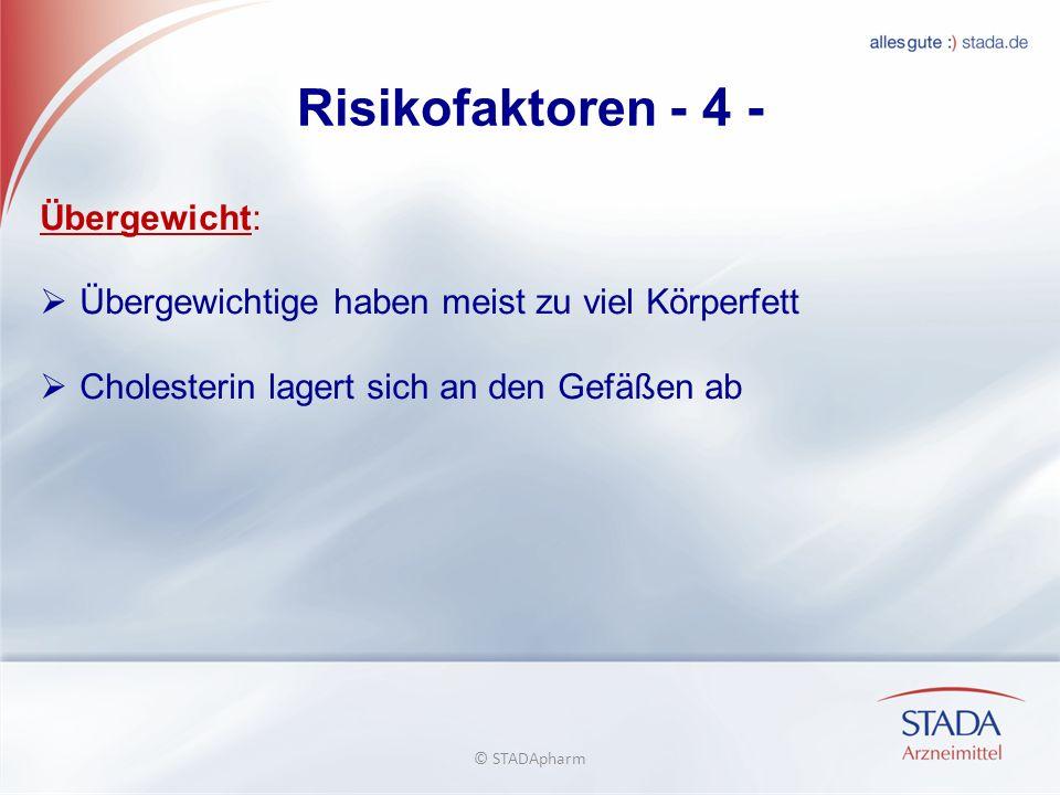 Risikofaktoren - 4 - Übergewicht: