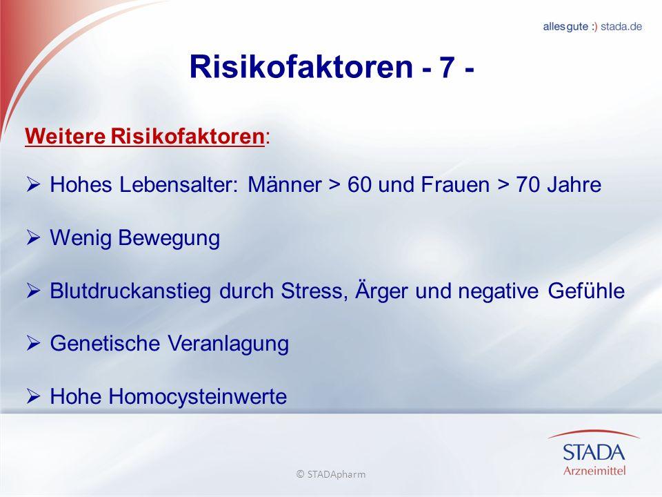 Risikofaktoren - 7 - Weitere Risikofaktoren: