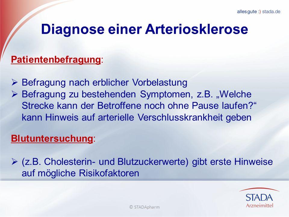 Diagnose einer Arteriosklerose