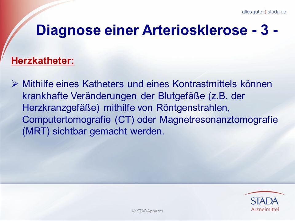 Diagnose einer Arteriosklerose - 3 -