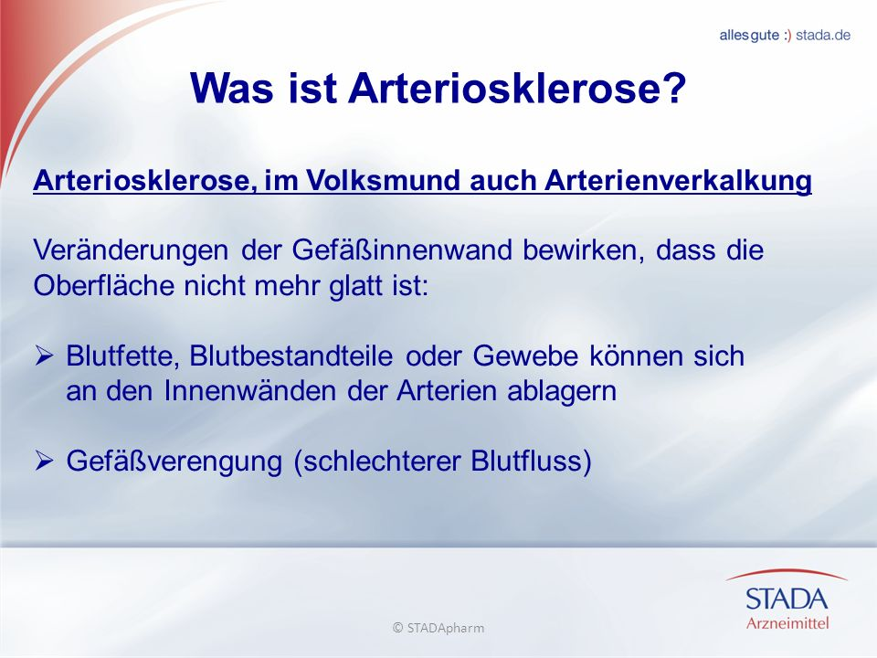 Was ist Arteriosklerose