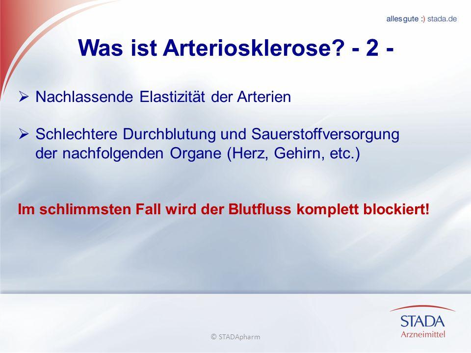 Was ist Arteriosklerose - 2 -