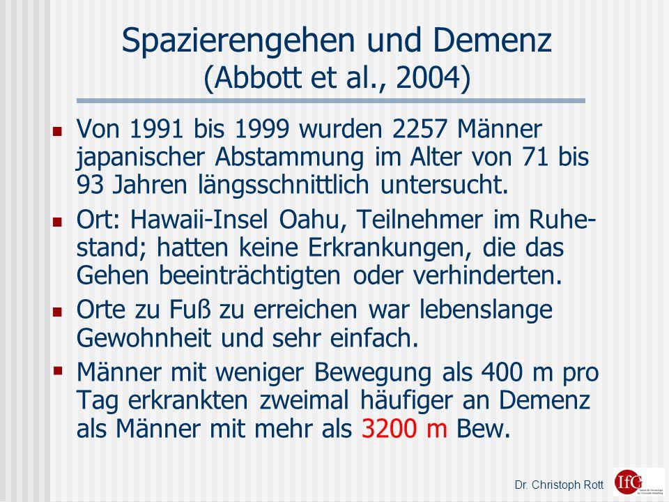 Spazierengehen und Demenz (Abbott et al., 2004)