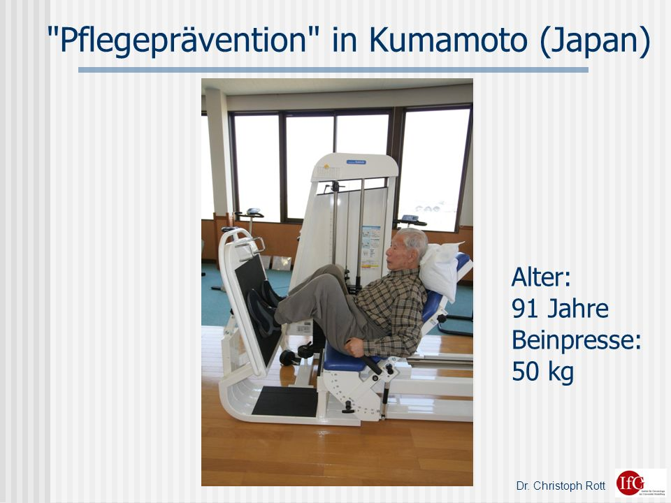 Pflegeprävention in Kumamoto (Japan)